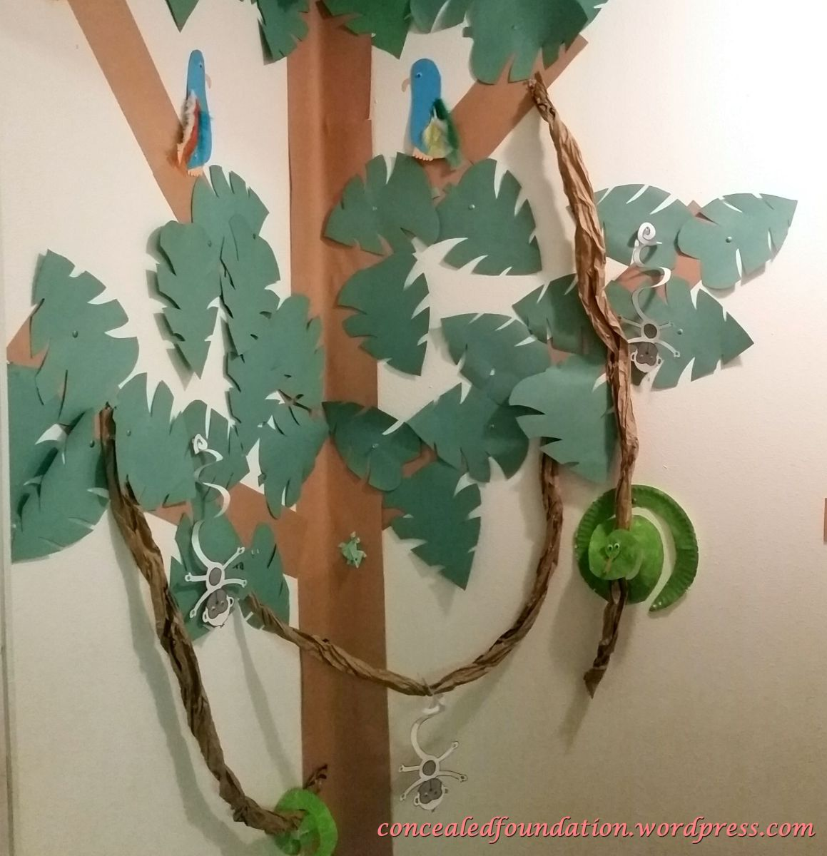 DIY rainforest corner